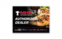 MHP Grills Window Cling